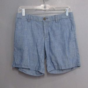 Banana Republic Blue Chambray Shorts Size 0
